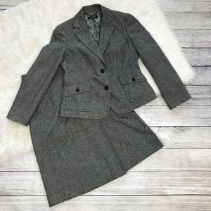 Talbots skirt suit set wool size 6
